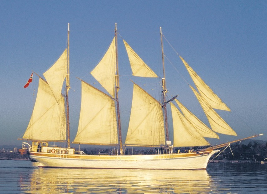re-launch, sailing ship, shooner,